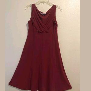 Evan Picone crimson red sleeveless empire waist